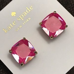 kate spade new york small square enamel stud